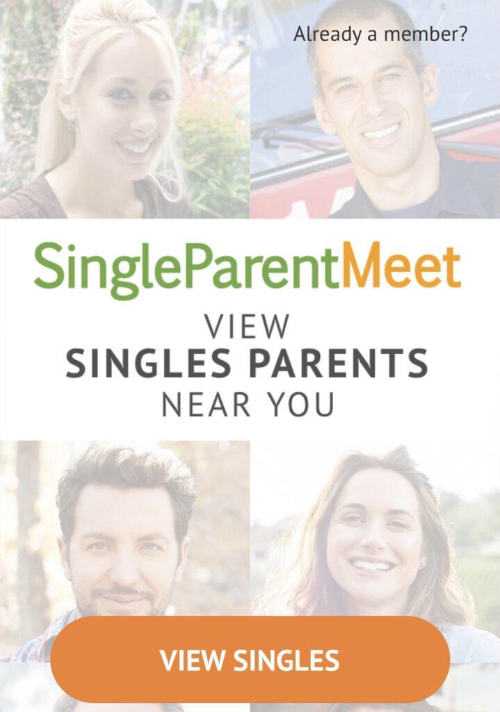 Screen shot of SingleParentMeet Home Page